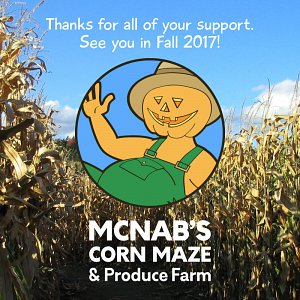 Thanks to everyone who supported McNab's Corn Maze in 2016