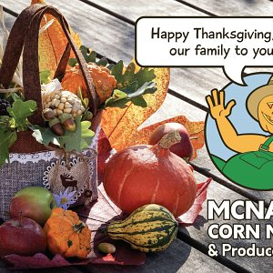 McNab's Corn Maze & Pumpkin Patch open on Thanksgiving Day, 2018