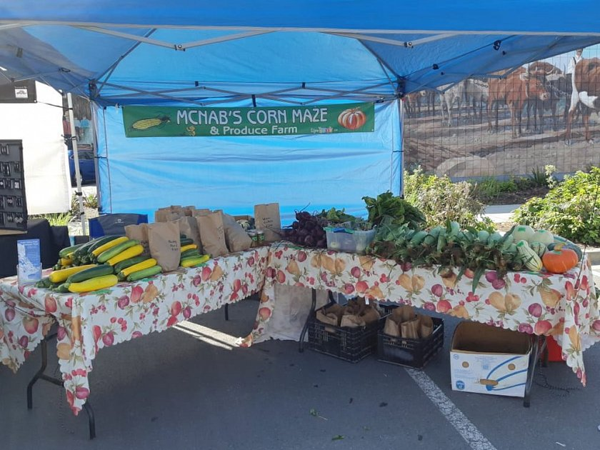 Find McNab's produce at various 2019 Farmer's Markets on Vancouver Island