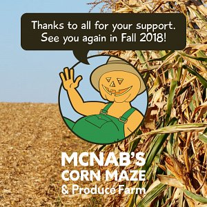 Thank-you to all of the visitors and staff who made 2017 a great year at McNab's